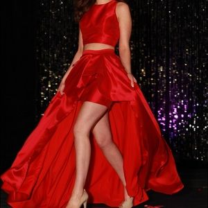 Sherri Hill 2-piece Red Skirt Set